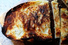 Broiled Bread w Butter... so simple delicious & crunchy on the outside and soft on the inside
