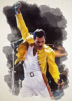 This is a wall poster of Freddie Mercury in Watercolor Painting Effect See amazing artworks of Displate artists printed on metal. Easy mounting, no power tools needed. Queen Freddie Mercury, Freddie Mercury Quotes, Queen Songs, Poster Wall, Poster Prints, Impression Poster, Queen Band, Across The Universe, Classic Rock