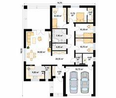Decyma 5 projekt domu - Jesteśmy AUTOREM - DOMY w Stylu Sliders, House Plans, Floor Plans, Flooring, How To Plan, Home Decor, Building Homes, Asylum, Projects