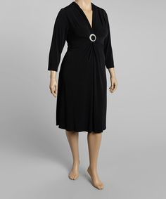 Take a look at this Black Eclipse Dress - Plus by Dynasty Fashions on #zulily today!