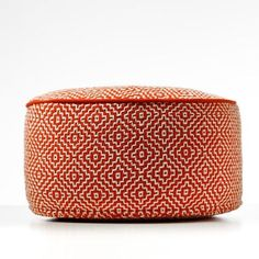 Home Republic Ottomans and poufs Tangerine Adairs Kids, Orange Home Decor, Home Republic, Tangerine Color, Orange House, Floor Cushions, Soft Furnishings, Home Renovation, Kids Room