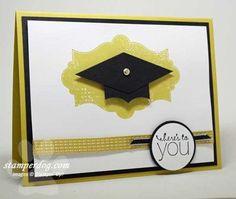 Graduation Card tutorial to make the cap.