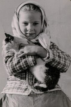Hungarian Girl and her Kitty