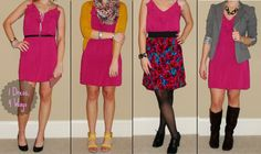 1 dress- 4 ways. cute ways to remix and wear a bright pink dress this spring