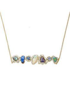 Kimberly McDonald - One of a Kind Kimberly McDonald Boulder Opal and Diamond Bar Pendant