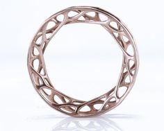 Cellular Bangle by Nervous System in 3d-printed stainless steel