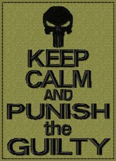 OML Patches - Keep Calm and Punish the Guilty, $6.99 (http://www.omlpatches.com/keep-calm-and-punish-the-guilty/)