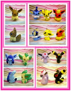 Eeveelution Charms by pookat.deviantart.com on @deviantART