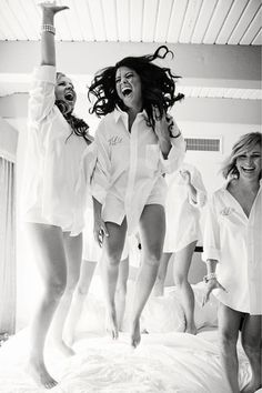 I want fun pictures like this taken on my wedding day <3 -- personalized men's dress shirts, cute alternative to robes