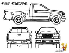 gmc pick up trucks coloring sheets gmc canyon httpwww