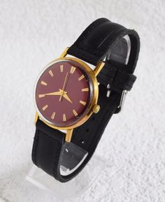 "I suggest you vintage Soviet men's wristwatch ""LUCH"" with a new leather strap and a gift box."
