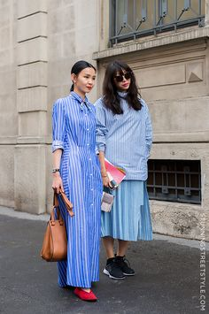 Perfect casual chic looks at Milan Fashion Week image by StunningStreetstyle MFW Streetstyle #stripes #mfw