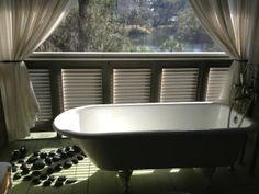 Winding the day with soak in spa tub followed by a hot stone massage..