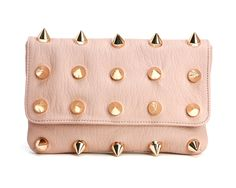 Deux Lux Empire Clutch  Gold spikes galore