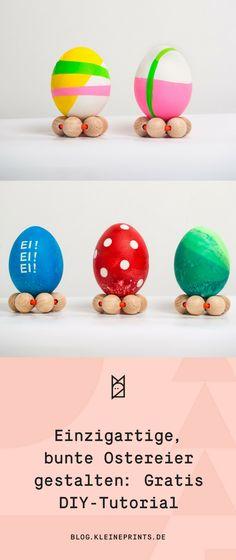Ostereier gestalten: 4 Methoden & Tricks für einzigartige Designs #diy #ostern #ostereier #deko