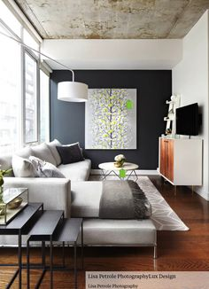 Narrow rectangle living space decor solution