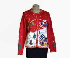 Ugly tacky long sleeve blue christmas scrubs top on Etsy, $16.00 ...