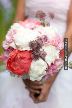 Like this! - There's just something about a solid peony bouquet! | CHECK OUT MORE IDEAS AT WEDDINGPINS.NET | #weddings #flowers #weddingbouquets #weddingflowers #events #forweddings #iloveflorals #romance #beauty #planners #floral #florist #Bouquet