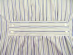Mens Stripe Shirt Refashion - at bottom of website for tutorial upcycle repurpose Diy Clothing, Sewing Clothes, Formation Couture, Sewing Alterations, Diy Vetement, Altering Clothes, Recycled Fashion, Diy Shirt, Men's Shirt Refashion