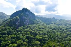 The beautiful mountainous Mahe, Seychelles.