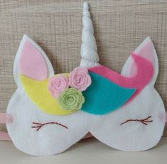 Foam Crafts, Diy And Crafts, Crafts For Kids, Unicorn Birthday Parties, Unicorn Party, Sewing Crafts, Sewing Projects, Girl Spa Party, Unicorn Pillow