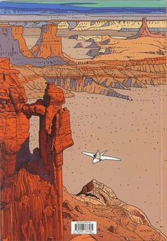 "Back cover illustration from ""Arzak: L'arpenteur"" (""Arzak: The Surveyor"") (2010) by French artist/author Jean ""Moebius"" Giraud"