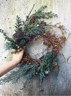 all the sweet prettiness of life — delta-breezes: Amy Merrick Autumn Wreaths, Holiday Wreaths, Christmas Decorations, Holiday Decor, Spring Wreaths, Summer Wreath, Dried Flower Wreaths, Dried Flowers, Floral Wreaths