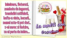 Felicitari de la multi ani - Inimioare, fluturasi, zambete de ingerasi, trandafiri catifelati, bafta-n viata, bucurii.. numai asta-ti pot dori.. s-ai noroc si fericire, sa ai parte de iubire...La multi ani, Cosmina! Noroc, Happy Birthday, Bullet Journal, Happy Brithday, Urari La Multi Ani, Happy Birthday Funny, Happy B Day, Happy Birth