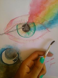 presente para o amor com amor | Flickr - Photo Sharing! #aquarela #pinkfloyd