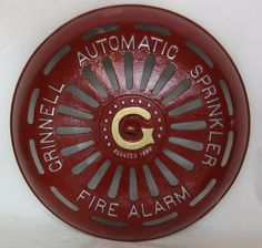 Grinnell fire sprinkler alarm bell Fire Sprinkler System, Marine Engineering, Sprinklers, Fire Department, Firefighters, Art Images, Safety, Decorating Ideas, Loft