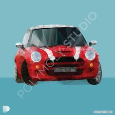 Red Mini Cooper S Polygon Art. Instant download available from www.etsy.com/... #polymolystudio #polymoly #minicooper #polygonart #instantdownload Red Mini Cooper, Polygon Art, Geometric Art, Printable Wall Art, Picture Frames, Digital Prints, Wall Decor, Art Prints, Wallpaper