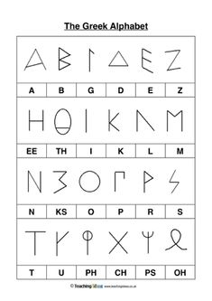 Use this worksheet to teach your children about the Greek Alphabet. Ancient Greece For Kids, Ancient Greek, Ancient Greece Lessons, Ancient Aliens, Ancient Egypt, Teaching The Alphabet, Alphabet For Kids, Greek Language, Italian Language