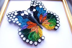 Sale Quilled Paper Art: Butterfly. Home Décor. by PaperDreamland