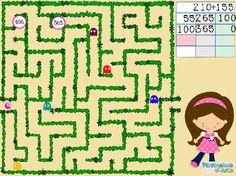 ABN  – OPERACIONES – NIVEL 2 – Suma y encuentra la salida (3 cifras sin llevar) – En este juego se trabajan las sumas de números de tres cifras con centenas y decenas que no llegan a formar una unidad del orden superior. El jugador/a debe buscar el resultado entre los números que hay en el laberinto y llegar hasta él. Work Quotes, Luigi, Math, Fictional Characters, Multiplication Tables, Math Games, Labyrinths, Activities, Unity