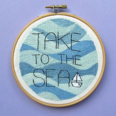 Bugs and Fishes by Lupin: Take to the Sea: a Nautical Embroidery Project