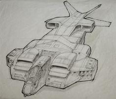 Alien Explorations: Aliens: Ron Cobb's Drop Ship artwork