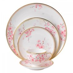 Wedgwood Spring Blossom 60Pc China Set, Service for 12 #Wedgwood