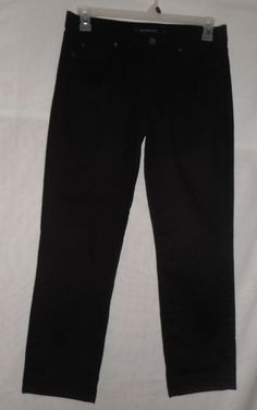CALVIN KLEIN JEANS Black Women's Skinny Crop Casual Pants 10 Capris #CalvinKleinJeans #CasualPants