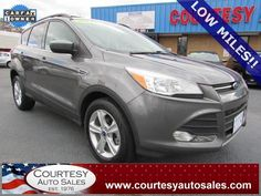 2013 Ford Escape With Only 31,241 Miles!!  INCLUDES REMAINDER Of Factory WARRANTY! -- CLEAN CAR-FAX!....Equipped With 1.6L EcoBoost!! -- CALL TODAY! * 757-424-6404 * FINANCING AVAILABLE! -- Courtesy Auto Sales SPECIALIZES In Providing You With The BEST PRICE On A USED CAR, TRUCK or SUV! -- Get APPROVED TODAY @ courtesyautosales.com * Proudly Serving Your USED CAR NEEDS In Chesapeake, Virginia Beach, Norfolk, Portsmouth, Suffolk, Hampton Roads, Richmond, And ALL Of Virginia SINCE 1976!