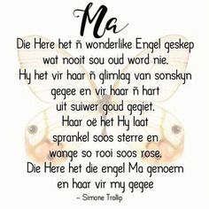 Mothers Day Quotes, Mom Quotes, Sign Quotes, Family Quotes, Birthday Wishes For Mother, Happy Birthday Mom, Birthday Greetings, Brave Quotes, Afrikaanse Quotes