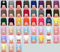 Lana CC Finds - sims4-marigold: Free Sleeveless & Crop Knit...