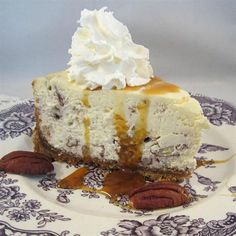 "Butter Pecan Cheesecake | ""I have made this cheesecake for years and it is always a big hit. Note: you will need a spring-form pan. It freezes well; thaw in refrigerator before serving."""