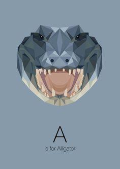 https://www.behance.net/gallery/Animal-Alphabet/12169985 a is for alligator