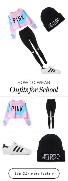 """""""Perfect school """" by salmaxyz on Polyvore featuring Chicnova Fashion, Topshop, adidas, women's clothing, women, female, woman, misses and juniors"""