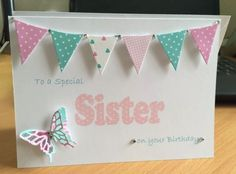 Handmade personalised birthday card cards gift mum #sister #auntie #cousin friend,  View more on the LINK: 	http://www.zeppy.io/product/gb/2/252346344844/