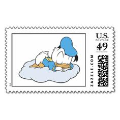 Baby Donald Duck sleeping Postage