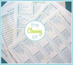 Cleaning and organizing forms, plus tips from Cleaning Mama.