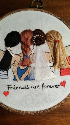 Bride and bridesmaids inc – Modern Embroidery, best friend gift Handmade embroidery bride marrige gift wedding gift – Hand Embroidery Embroidery Hoop Crafts, Wedding Embroidery, Hand Embroidery Stitches, Modern Embroidery, Hand Embroidery Designs, Ribbon Embroidery, Creative Embroidery, Simple Embroidery, Embroidery Ideas