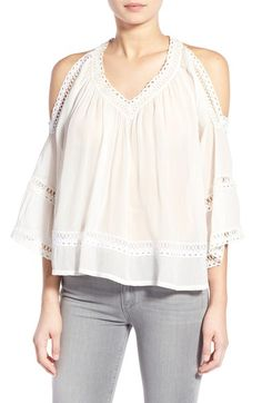 8d47e9ccd06be Rebecca Minkoff  Deneuve  Cold Shoulder Blouse