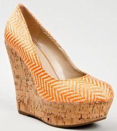 Breckelles GINA-04 Cork Platform High Wedge Heel Woven Slip On Round Toe Sandal Pump: Price: $25.00